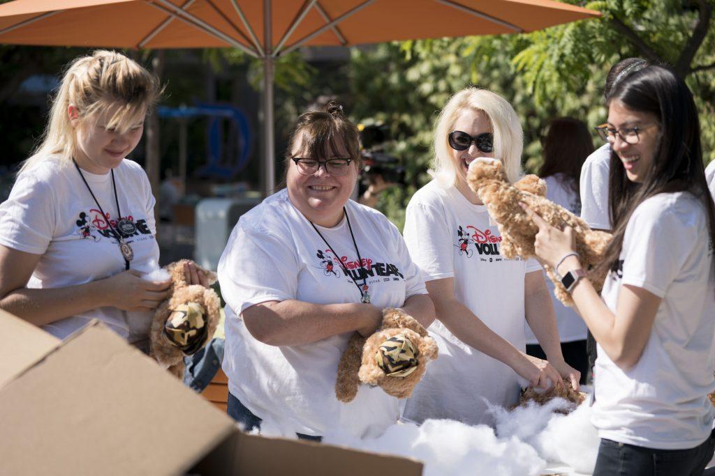 Imagineers working at volunteer event