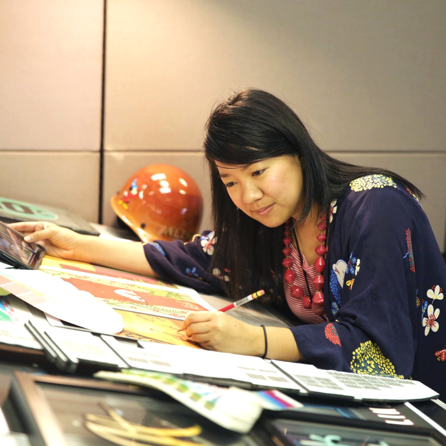 Allie Wong from Imaginations Class of '13 doing concept work.