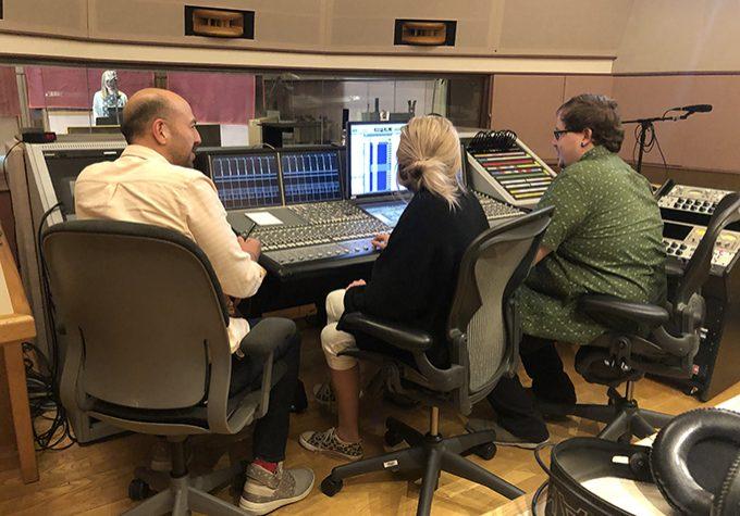Imagineers in the recording studio.