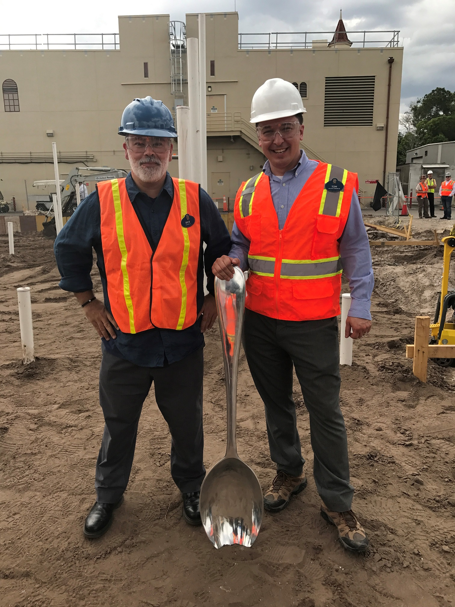 TOM (on right) Festival Kitchen Groundbreaking May 2017