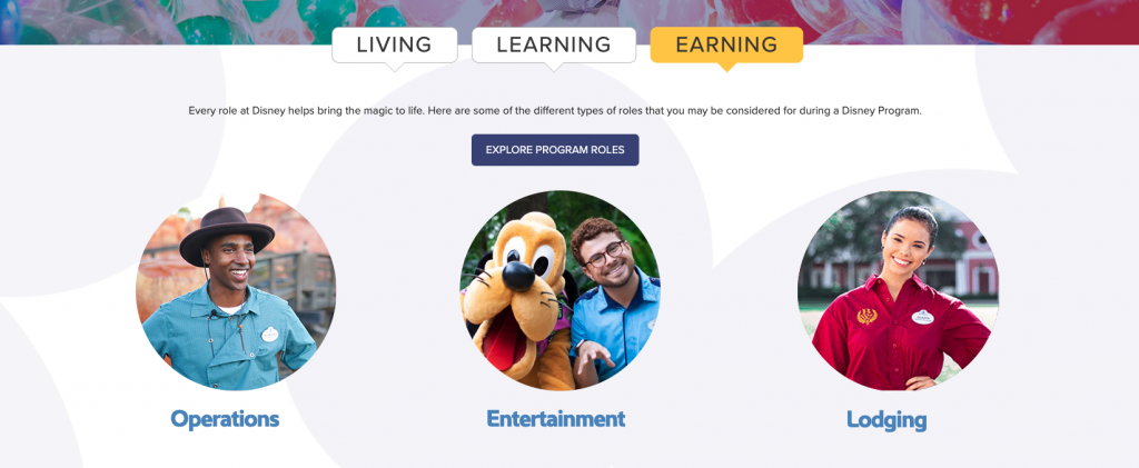 Disney College Program roles