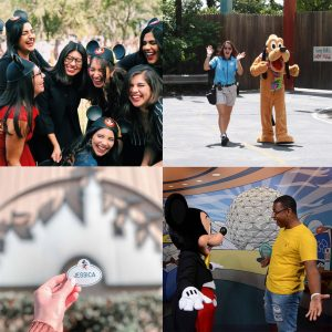 A collage of participant photos from their Disney Program